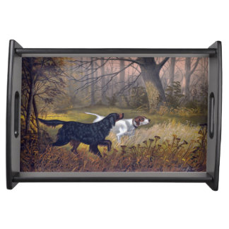 Gordon Setter on Point Serving Tray