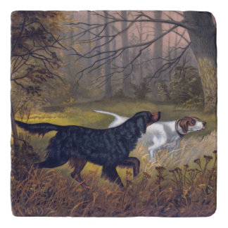 Gordon Setter on Point Stone Trivet
