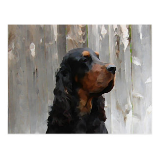 Gordon Setter Painting Postcard