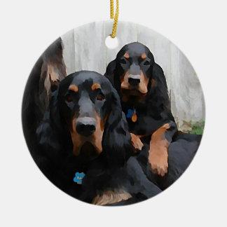 Gordon Setter Pals Painting Ornament