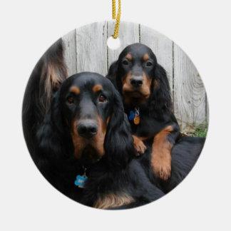 Gordon Setter Pals Photo Ornament