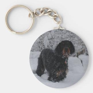 Gordon Setter Puppy Keychain