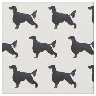 Gordon Setter Silhouette Tiled Fabric Basic