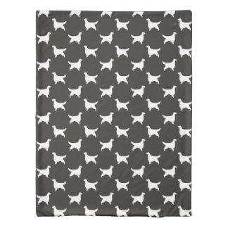 Gordon Setter Silhouettes Pattern Duvet Cover