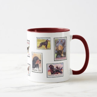 Gordon Setter Stamps of the World Ceramic Mug