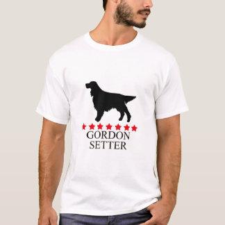 Gordon Setter T-shirt with Red Stars