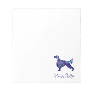 Gordon Setter Watercolor Notepad