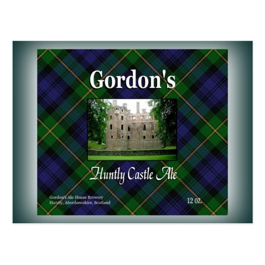 Gordon's Huntly Castle Ale Postcard