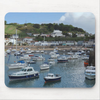 Gorey Harbour Boats Mousepad