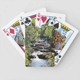 Gorge at Moxie Falls in West Forks Maine Bicycle Playing Cards
