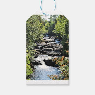 Gorge at Moxie Falls in West Forks Maine Gift Tags
