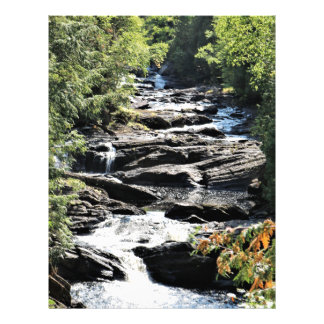 Gorge at Moxie Falls in West Forks Maine Letterhead