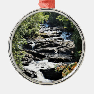Gorge at Moxie Falls in West Forks Maine Metal Ornament