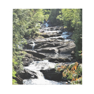 Gorge at Moxie Falls in West Forks Maine Notepad