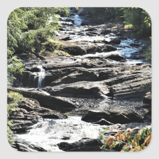 Gorge at Moxie Falls in West Forks Maine Square Sticker