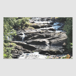 Gorge at Moxie Falls in West Forks Maine Sticker