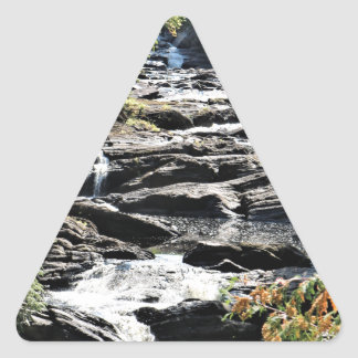 Gorge at Moxie Falls in West Forks Maine Triangle Sticker