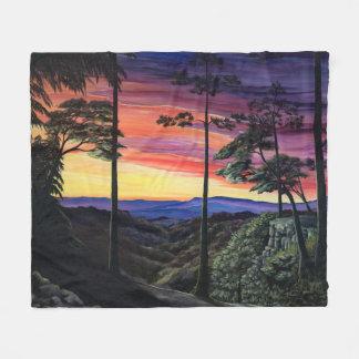 Gorge at sunset fleece blanket
