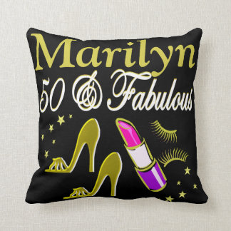 GORGEOUS 50TH BIRTHDAY PERSONALIZED PILLOW