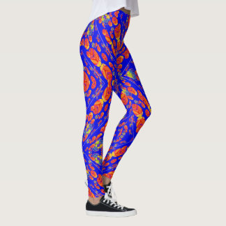 Gorgeous Abstract Blue Pattern Leggings