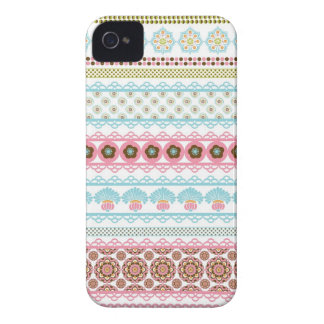 Gorgeous Abstract Floral Stripes Case-Mate iPhone 4 Case