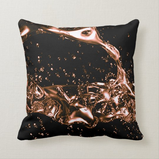 Gorgeous abstract lava copper design throw pillow