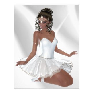 Gorgeous African American Ballerina Personalized Letterhead