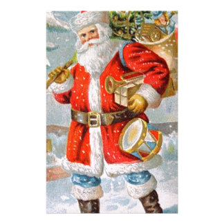 Gorgeous American Patriotic Christmas Santa Stationery