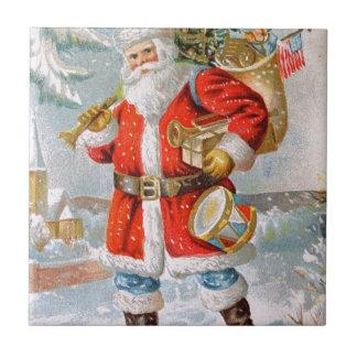 Gorgeous American Patriotic Christmas Santa Tile