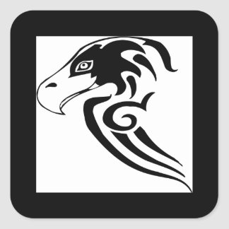 Gorgeous and Wild Hawk Square Sticker