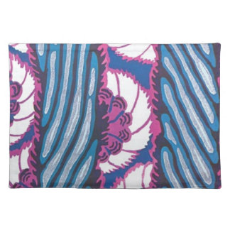 Gorgeous Art Deco Abstract Floral Fabric Place Mats