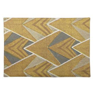 Gorgeous Art Deco FIne Art Fabric Placemats