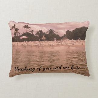 Gorgeous Beach Scene Painting Design Accent Pillow