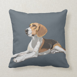 Gorgeous Beagle Sitting Down Throw Pillow