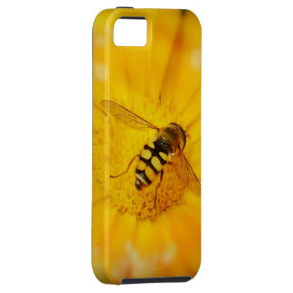 Gorgeous Bee on Golden Flower iPhone 5 Case