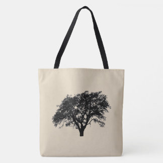 Gorgeous Black Tree Print Design Tote Bag