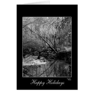 Gorgeous Black & White Holiday Greeting Card