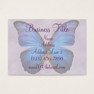 Gorgeous Blue Morpho Butterfly Business Cards