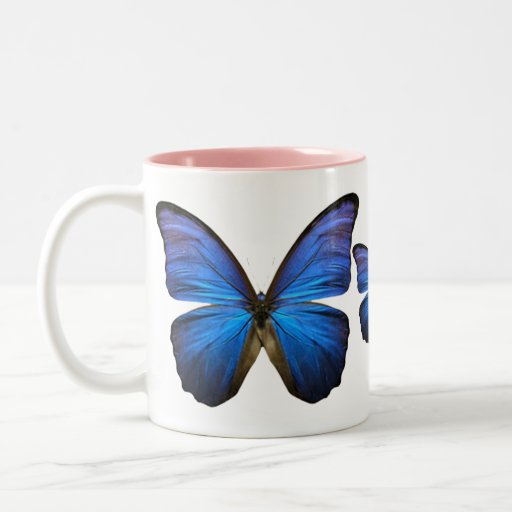 Gorgeous Blue Morpho Butterfly Coffee Mugs
