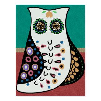 Gorgeous Bohemian Hippy Owl Postcard