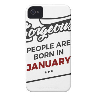 Gorgeous Born In January Babies Birthday Case-Mate iPhone 4 Cases