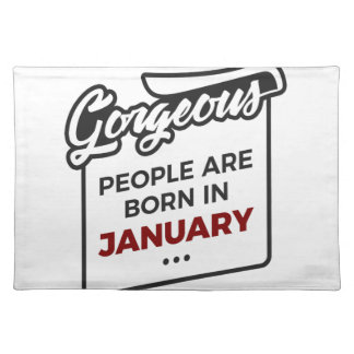Gorgeous Born In January Babies Birthday Placemat