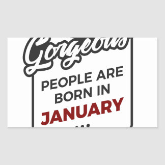 Gorgeous Born In January Babies Birthday Sticker