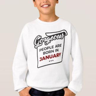 Gorgeous Born In January Babies Birthday Sweatshirt