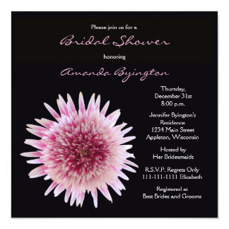 Gorgeous Bridal Shower Invitation - Gerbera