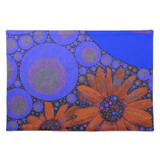 Gorgeous Bright Blue Orange Sunflowers Placemats