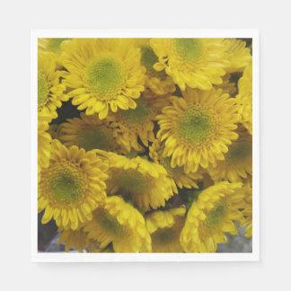 Gorgeous Bright Yellow Flowers Napkins