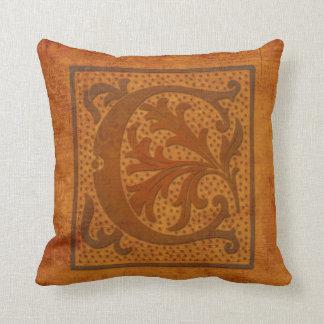 Gorgeous C Monogram/Old Letter Pillow! Throw Pillow