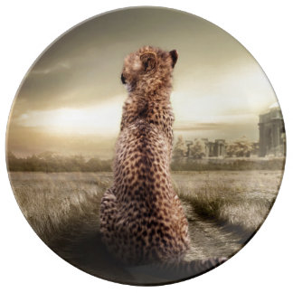 Gorgeous cheetah plate