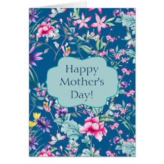 Gorgeous Chinoiserie Floral Pattern   Mother's Day Card